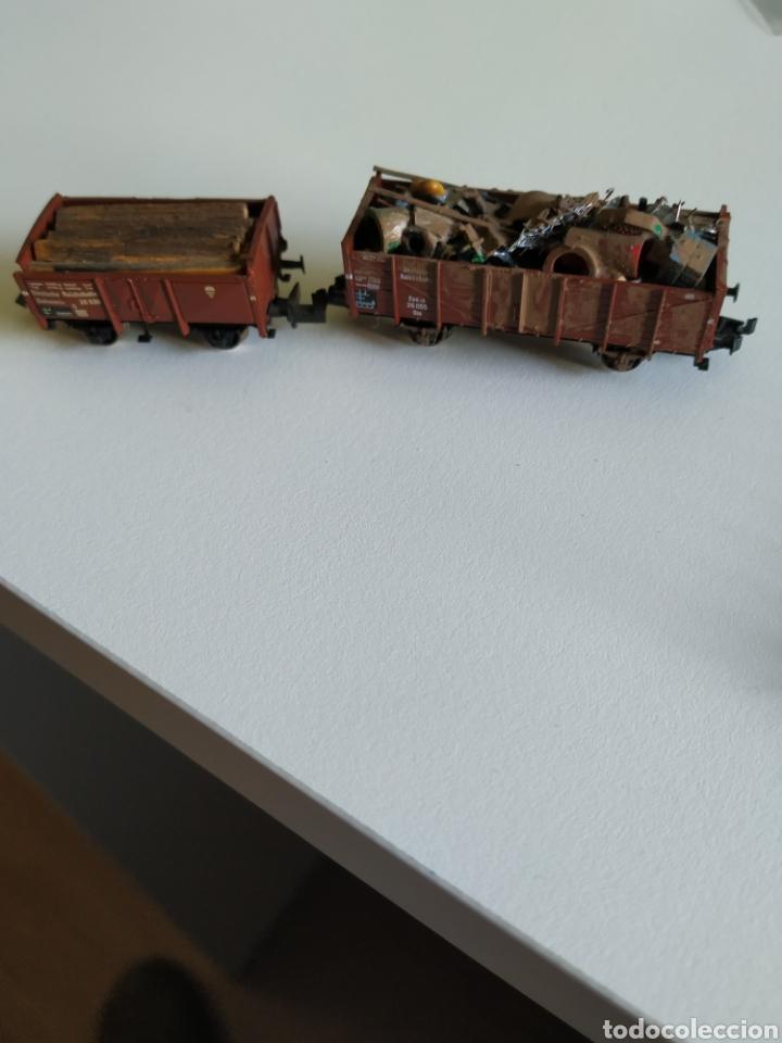 Trenes Escala: 2 vagones fleischmann Piccolo de chatarra y madera escala N - Foto 2 - 208692906
