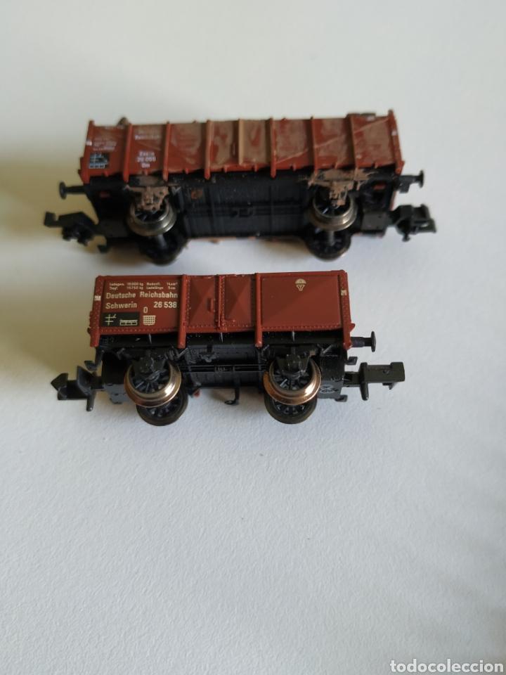 Trenes Escala: 2 vagones fleischmann Piccolo de chatarra y madera escala N - Foto 3 - 208692906