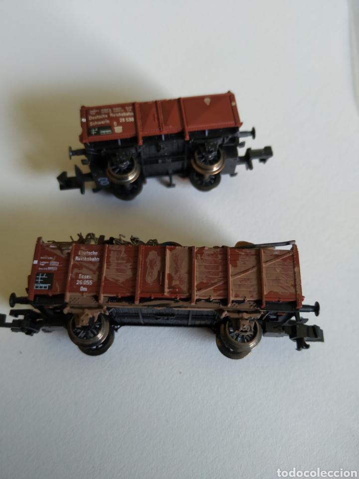 Trenes Escala: 2 vagones fleischmann Piccolo de chatarra y madera escala N - Foto 4 - 208692906
