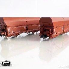 Comboios Escala: 2 VAGONES DE MERCANCIAS. Lote 209201603