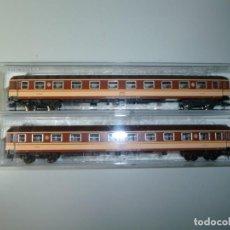 "Trenes Escala: SET DE 2 COCHES 8000 ""ESTRELLA LITERAS"" FLEISCHMANN. Lote 213690712"