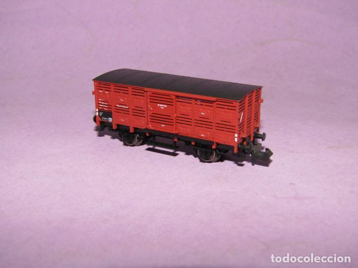 Trenes Escala: Antiguo Vagón Transporte de Ganado en Escala *N* Ref. 8356 de FLEISCHMANN PICCOLO - Foto 2 - 218806630