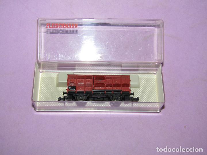 Trenes Escala: Antiguo Vagón Transporte de Ganado en Escala *N* Ref. 8356 de FLEISCHMANN PICCOLO - Foto 4 - 218806630