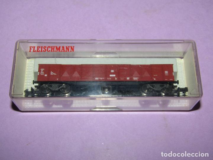 Trenes Escala: Antiguo Vagón Borde Alto 4 Ejes en Escala *N* Ref 8282 de FLEISCHMANN PICCOLO - Foto 3 - 243439755