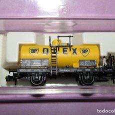 Trenes Escala: ANTIGUO VAGÓN CISTERNA OLEX BP EN ESCALA *N* REF 8421 K DE FLEISCHMANN PICCOLO. Lote 218809438