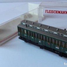 Trenes Escala: VAGON FLEISCHMANN N 8094. PASAJEROS, VERDE.. Lote 219068532