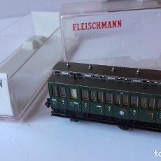Trenes Escala: VAGON FLEISCHMANN N 8092. PASAJEROS VERDE.. Lote 219069000