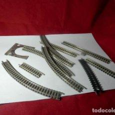 Trenes Escala: LOTE VIAS ESCALA N DE FLEISCHMANN. Lote 222946966