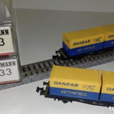 Trenes Escala: FLEISCHMANN N 2 PLATAFORMAS DANZAS 8233 --- L47-074 (CON COMPRA DE 5 LOTES O MAS, ENVÍO GRATIS). Lote 229588240