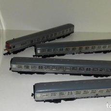 Trenes Escala: FLEISCHMANN N 4 VAGONES PASAJEROS CON LUZ--- L47-060 (CON COMPRA DE 5 LOTES O MAS, ENVÍO GRATIS). Lote 231209915