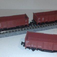 Trenes Escala: FLEISCHMANN N 3 VAGONES BORDE ALTO -- L48-214 (CON COMPRA DE 5 LOTES O MAS, ENVÍO GRATIS). Lote 249542175