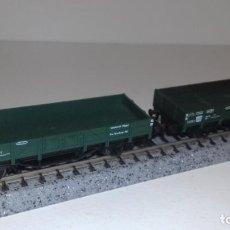 Trenes Escala: FLEISCHMANN N 2 VAGONES BORDE BAJO -- L48-218 (CON COMPRA DE 5 LOTES O MAS, ENVÍO GRATIS). Lote 249542580