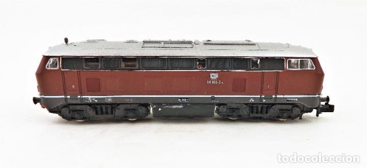 Trenes Escala: Fleischmann Piccolo 7232 locomotora diesel Br 210 Escala N DC analog - Foto 2 - 250152590