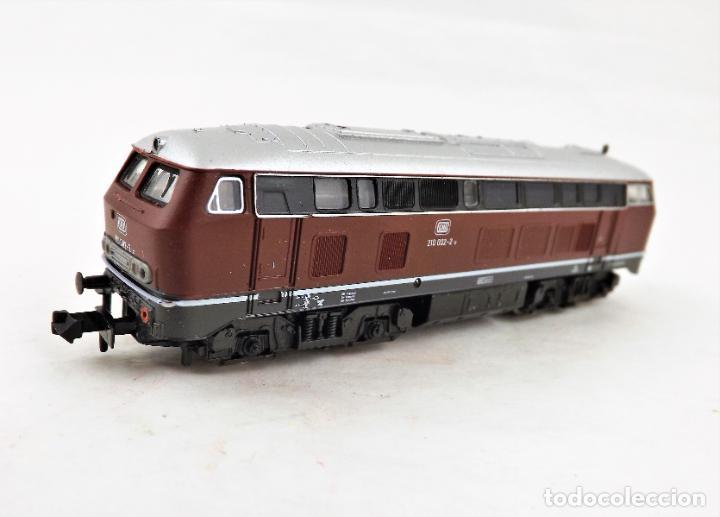 FLEISCHMANN PICCOLO 7232 LOCOMOTORA DIESEL BR 210 ESCALA N DC ANALOG (Juguetes - Trenes a Escala N - Fleischmann N)