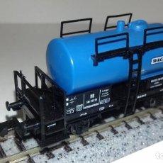 Trenes Escala: FLEISCHMANN N CISTERNA 2 EJES WACQUER -- L49-019 (CON COMPRA DE 5 LOTES O MAS, ENVÍO GRATIS). Lote 253697150
