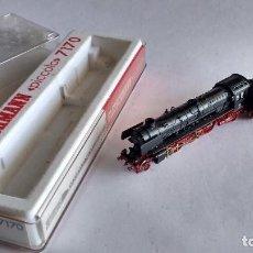 Trenes Escala: FLEISCHMANN N REF 7170, LOCOMOTORA DE VAPOR CON TENDER, CON LUZ, EN CAJA. FUNCIONA. Lote 253917585