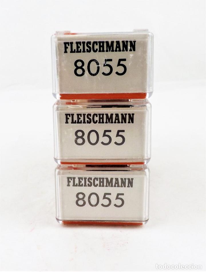 Trenes Escala: Fleischmann Piccolo. Conjunto de tres unidades 8055+8055+8055 Vagones de carga - Foto 4 - 254180610
