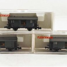 Trenes Escala: FLEISCHMANN N 8055+8055+8055 VAGONES DE CARGA. Lote 254180610