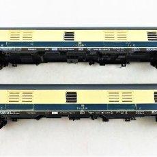 Trenes Escala: FLEISCHMANN N 8190 + 8190 COCHES PASAJEROS DB (UNO CON FALTAS). Lote 254322575