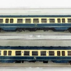 Trenes Escala: FLEISCHMANN N 7436 + 7436 COCHES PASAJEROS 2ª DB. Lote 254323045
