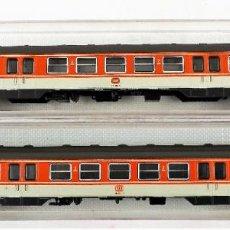Trenes Escala: FLEISCHMANN N 7432 + 7432 COCHES PASAJEROS 2ª DB. Lote 254323260