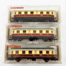 Trenes Escala: FLEISCHMANN N 8064+8064+8064 COCHES PASAJEROS 2ª. Lote 254325275