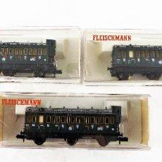 Trenes Escala: FLEISCHMANN N 8094+8094+8094 COCHES PASAJEROS 3ª. Lote 254325925