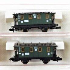 Trenes Escala: FLEISCHMANN PICCOLO 8051+8051 COCHES PASAJEROS DRG. Lote 254326395