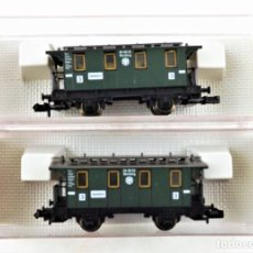 Trenes Escala: FLEISCHMANN N 8051+8051 COCHES PASAJEROS DRG. Lote 254326395