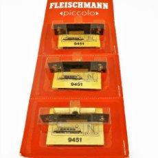Trenes Escala: FLEISCHMANN 9451 PICCOLO ALUMBRADO INTERIOR 3 UNIDADES. Lote 260456420