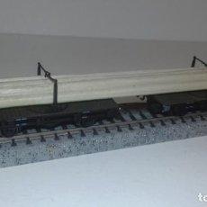 Trenes Escala: FLEISCHMANN N DOBLE VAGÓN PORTATUBOS -- L49-198 (CON COMPRA DE 5 LOTES O MAS, ENVÍO GRATIS). Lote 262270370