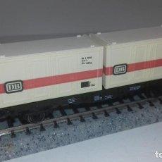 Trenes Escala: FLEISCHMANN N PLATAFORMA CONTENEDORES -- L49-199 (CON COMPRA DE 5 LOTES O MAS, ENVÍO GRATIS). Lote 262270585