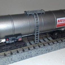 Trenes Escala: FLEISCHMANN N CISTERNA 4 EJES AVIA -- L49-243 (CON COMPRA DE 5 LOTES O MAS, ENVÍO GRATIS). Lote 263054940