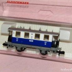Trenes Escala: COCHE DE VIAJEROS 2ª CLASE TRENES LOCALES EDELWEISS REF. 8053 ESC *N* DE FLEISCHMANN. Lote 264693884