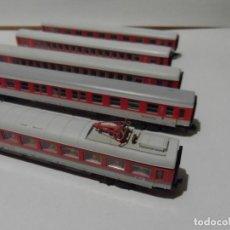 Trenes Escala: SET DE 5 VAGONES FLEISCHMAN ICE DE LA DB CON LUZ Y PASAJEROS SENTADOS, ESCALA N. Lote 274177553