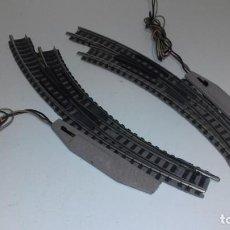 Trenes Escala: FLEISCHMANN N 2 DESVÍOS ELÉCTRICOS CURVOS DC-I- -- L50-102 (C COMPRA DE 5 LOTES O MAS, ENVÍO GRATIS). Lote 277512723