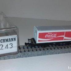 Trenes Escala: FLEISCHMANN N PLATAFORMA COCA-COLA 8243 -- L50-011 (C COMPRA DE 5 LOTES O MAS, ENVÍO GRATIS). Lote 278393593