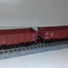 Trenes Escala: FLEISCHMANN N 2 VAGONES BORDE ALTO -- L50-128 (CON COMPRA DE 5 LOTES O MAS, ENVÍO GRATIS). Lote 283676953