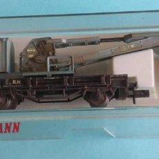 Trenes Escala: VAGON GRUA (CUSTOMIZADO) - FLEISCHMANN 8502. Lote 287212223