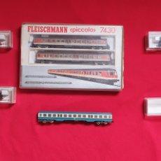 Trenes Escala: LOTE DE 2 LOCOMOTORA Y VAGONES FLEISCHMANN PICCOLO .. Lote 287308753