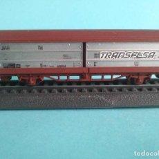 Trenes Escala: DOS VAGONES CERRADO PUERTAS DESLIZANTES DB 2 EJES - FLEISCHMANN 8335. Lote 287481698