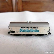 Trenes Escala: FLEISCHMANN N VAGÓN CERRADO CERVECERO KULMBACHER REICHELBRÄU DB ALEMÁN PERFECTO ESTADO. Lote 287607198