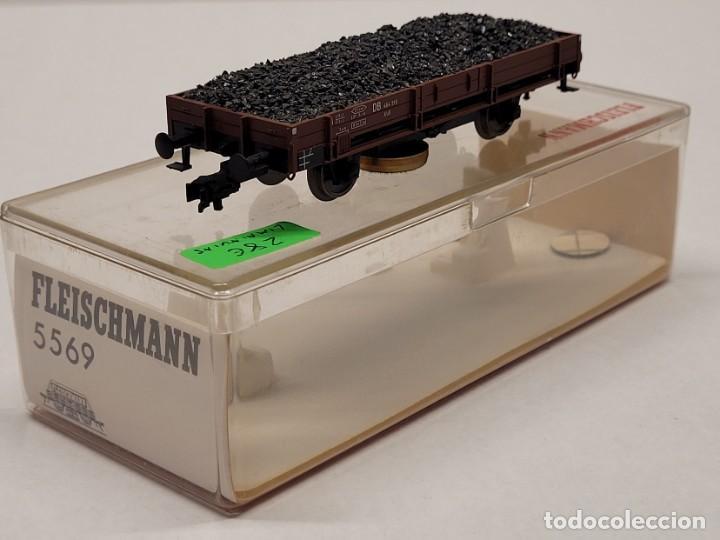 Trenes Escala: FLEISCHMANN H0 5569 - VAGÓN DE MERCANCÍAS CON CARBÓN LIMPIAVÍAS - Foto 3 - 288062053