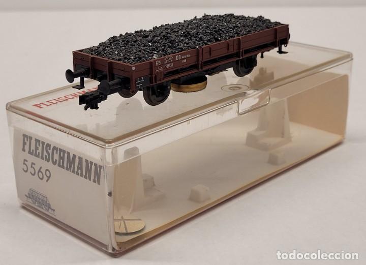 FLEISCHMANN H0 5569 - VAGÓN DE MERCANCÍAS CON CARBÓN LIMPIAVÍAS (Juguetes - Trenes a Escala N - Fleischmann N)