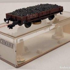 Trenes Escala: FLEISCHMANN H0 5569 - VAGÓN DE MERCANCÍAS CON CARBÓN LIMPIAVÍAS. Lote 288062053