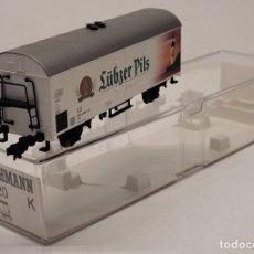 Trenes Escala: FLEISCHMANN H0 845320K - VAGÓN DE MERCANCÍAS LÜBZER PLIS. Lote 288063638