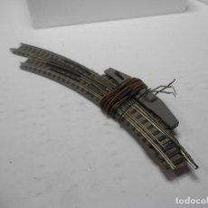 Trenes Escala: DESVIO ELECTRICO EN CURVA ESCALA N DE FLEISCHMANN. Lote 292375963