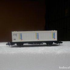 Trenes Escala: VAGÓN PORTACONTENEDOR ESCALA N DE FLEISCHMANN. Lote 292378133
