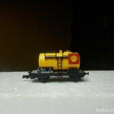 Trenes Escala: VAGÓN CISTERNA ESCALA N DE FLEISCHMANN. Lote 294954348