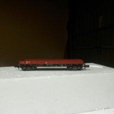 Trenes Escala: VAGÓN BORDE BAJO ESCALA N DE FLEISCHMANN. Lote 294973593